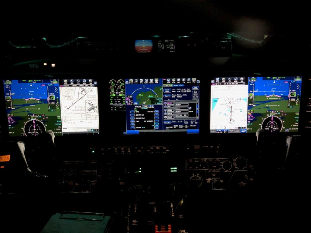 new flightdeck of King Air