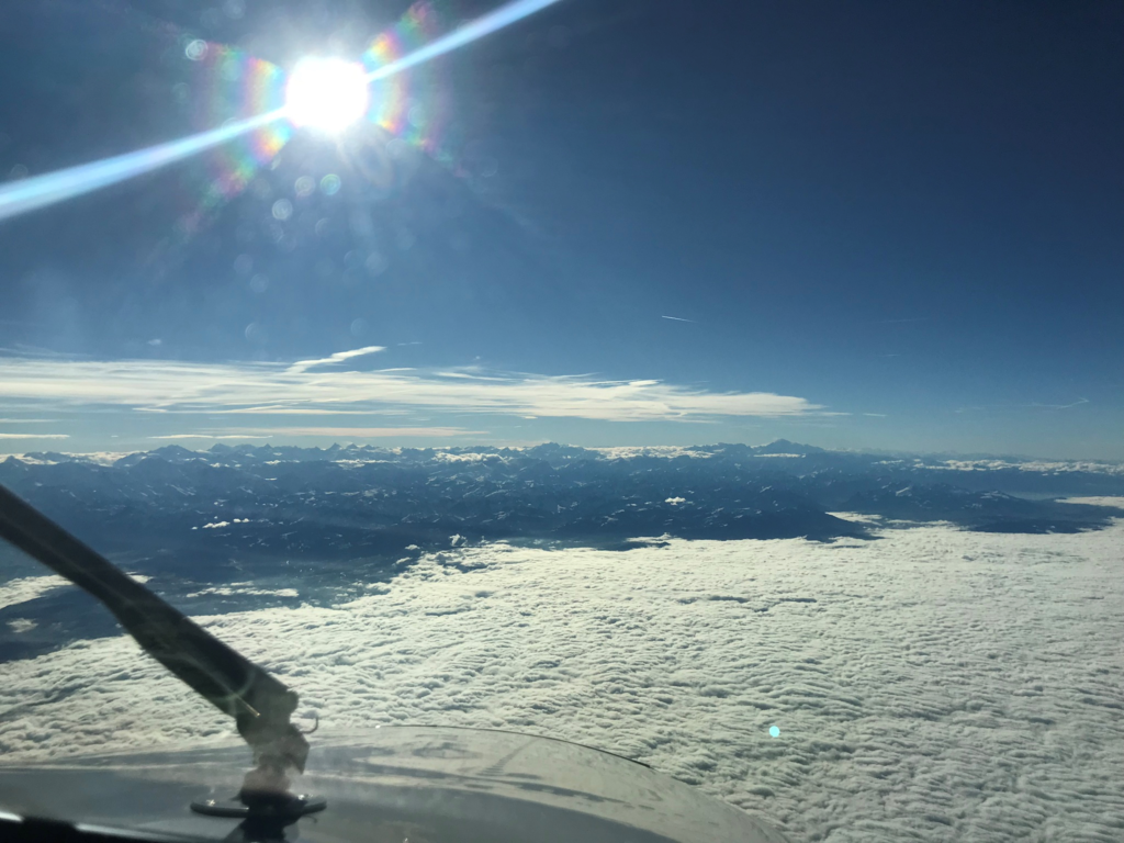 Approaching the Alps